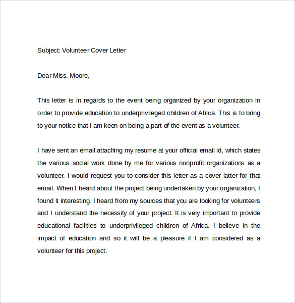 Email Cover Letter Example  10