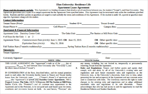pdf download apartment lease agreement