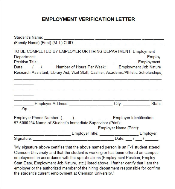 employment verification letter template free1