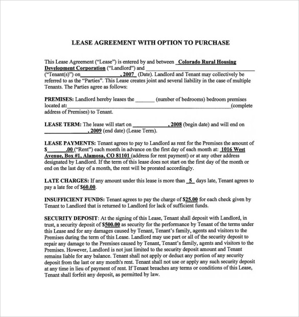 basic residential lease agreement