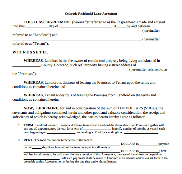 13 House Lease Agreement Templates Free Download