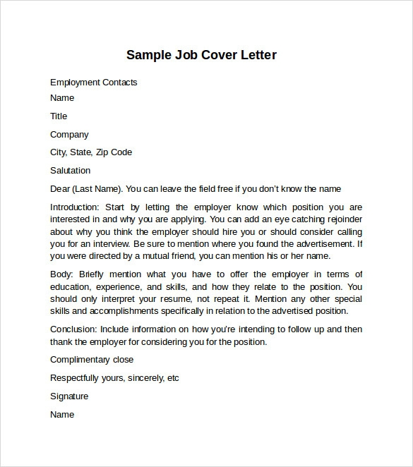 sample cover page template
