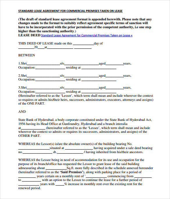 Land Lease Agreement Templates U2013 8+ Free Download Documents In PDF U2026
