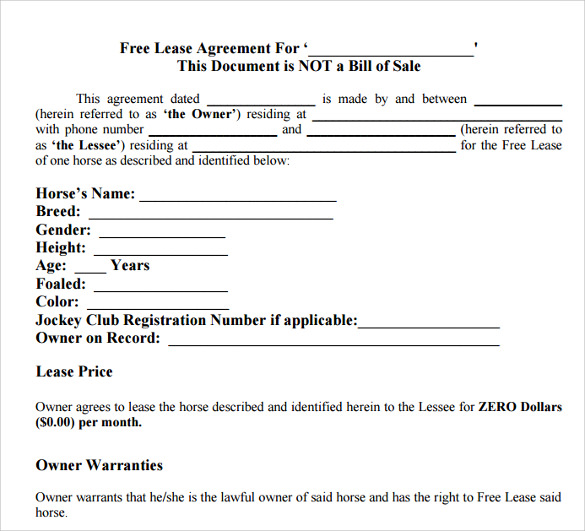 16 Printable Lease Agreement Templates Download For Free Sample