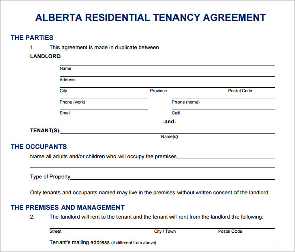 16 Printable Lease Agreement Templates Download For Free