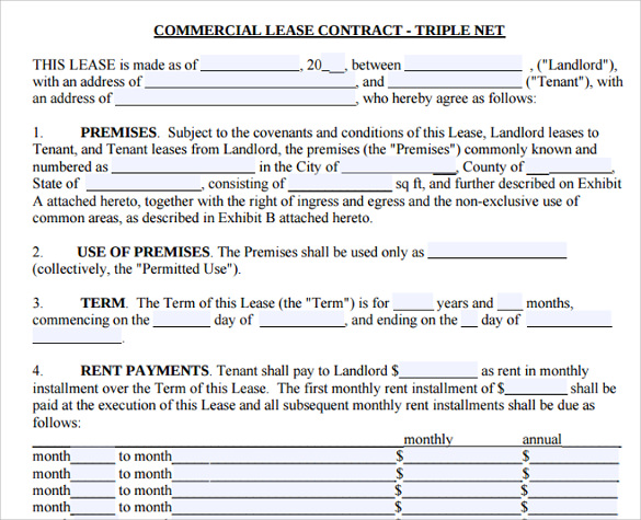 printable rental lease agreement template .