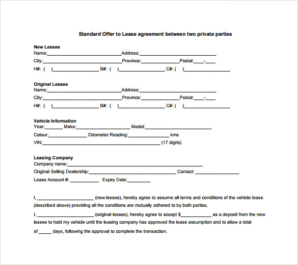 Standard Lease Agreement   Download Free Documents In Pdf