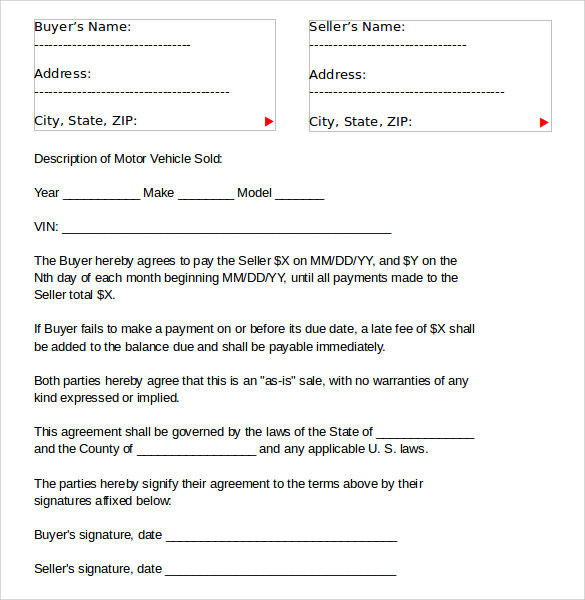 vehicle lease agreement template samples .