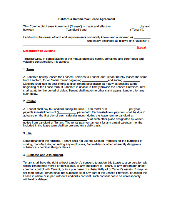 Lease Extension Agreement 8 Download Free Documents In Pdf