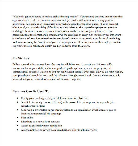 Fax cover resume sheet