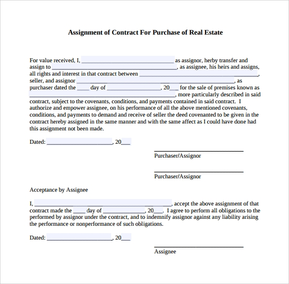real estate contract to download