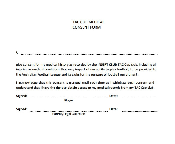 Sample Medical Consent Form 13 Free Documents in PDF – Sample Medical Consent Form
