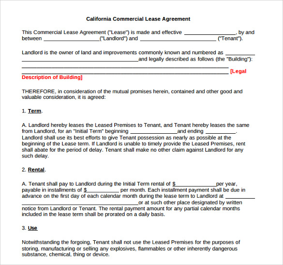 9 Sample Office Lease Agreements Sample Templates