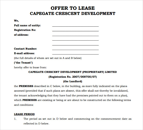 Sample Office Lease Agreement 8 Documents In Word PDF – Sample Office Lease Agreement
