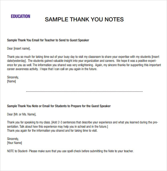 Sample Professional Thank You Notes   Documents In Pdf  Word