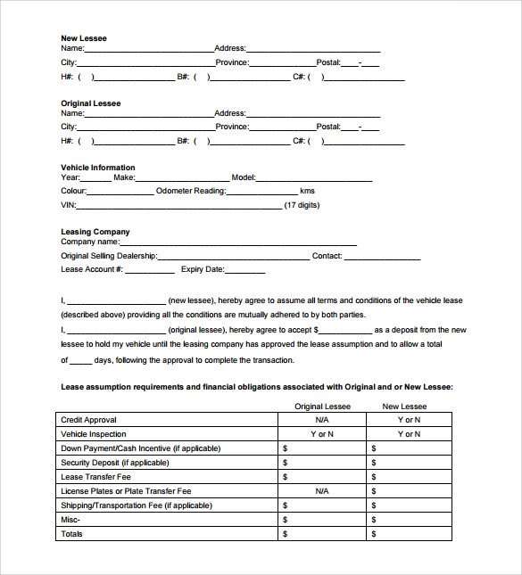 Sample Blank Lease Agreement Template   Free Documents In
