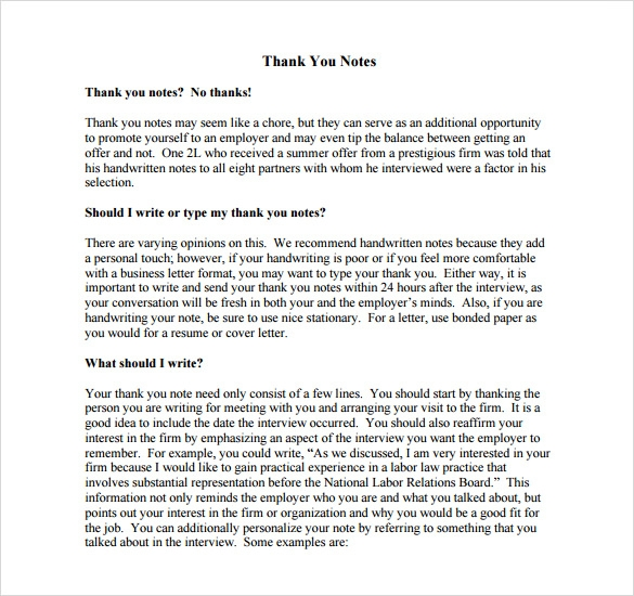 sample thank you note to boss 7 documents in pdf word