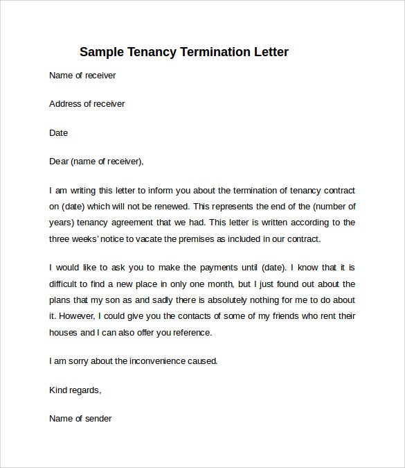 10 sample notice to vacate letters sample templates simple notice to vacate letter spiritdancerdesigns Image collections