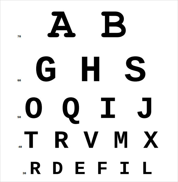 Sample Eye Chart Template - 11+ Free Documents Download in PDF