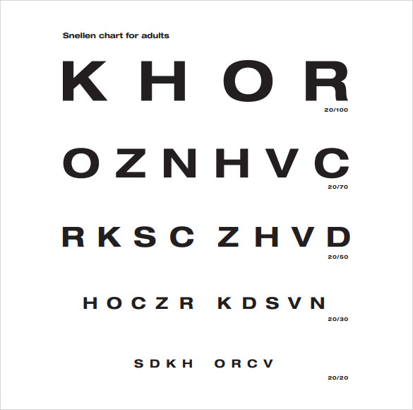 snellen chart for adults