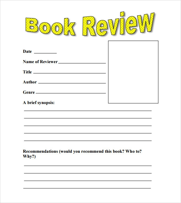 Simple Book Cover Review : Book review templates pdf word sample