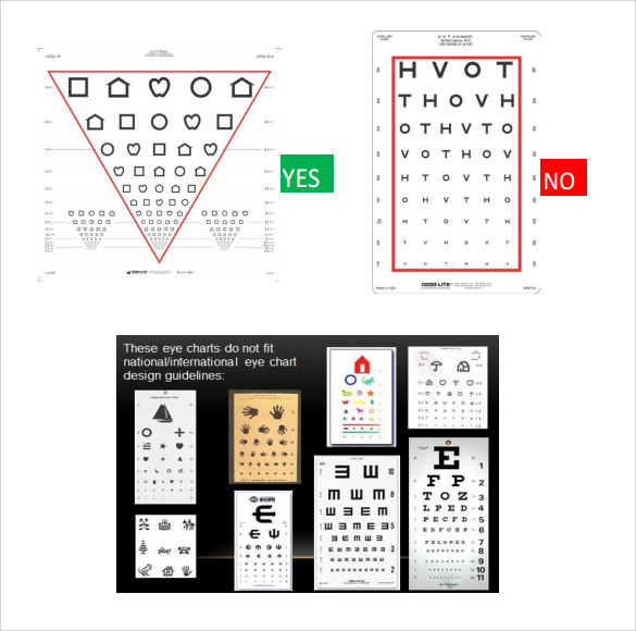 eye chart design template