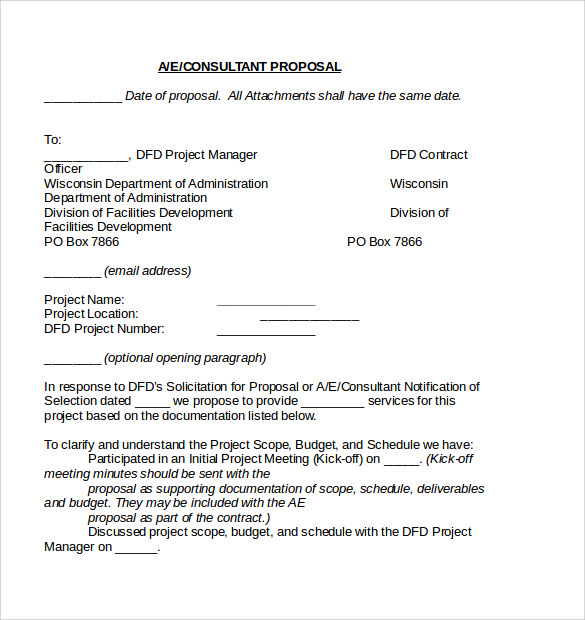 proposal contract template