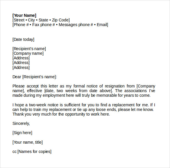 Sample Resignation Letter. Sample Resignation Letter Sample ...