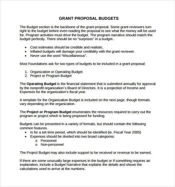 sample grant proposal template   datariouruguay