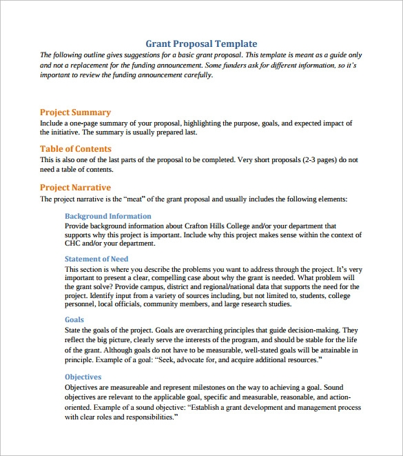Sample Grant Proposal - 8+ Documents In Pdf, Word