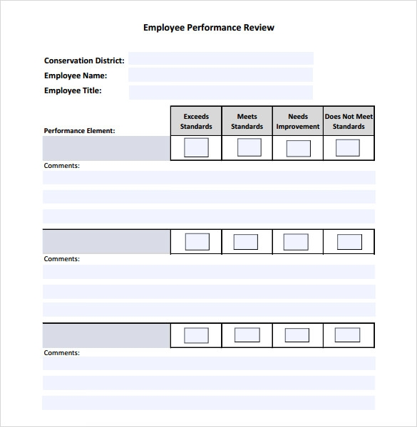 Employee Performance Review Example