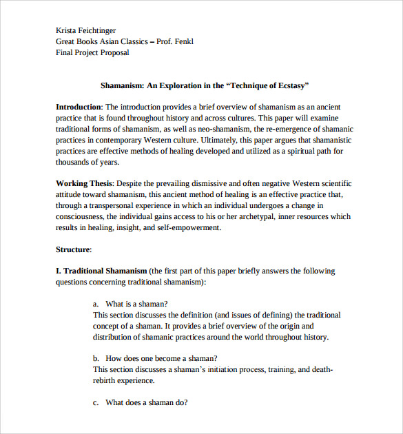 Sample Research Paper Proposal Template - 13+ Free ...