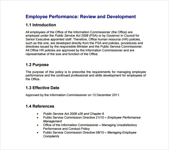 review of literature on performance appraisal project