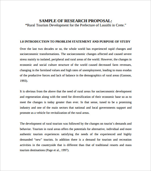 Sample Research Proposal Template   Free Documents In Pdf Word