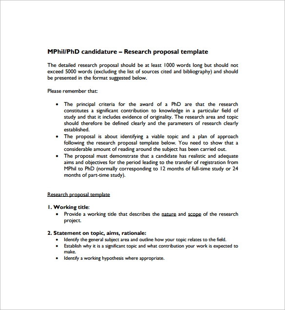 Sample Research Proposal Template - 9+ Free Documents In Pdf, Word