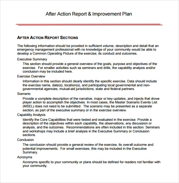 Sample After Action Review Template - 7+ Documents In Pdf , Word