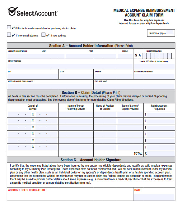 Sample Expense Reimbursement Form 8 Download Free Documents In PDF – Reimbursement Form