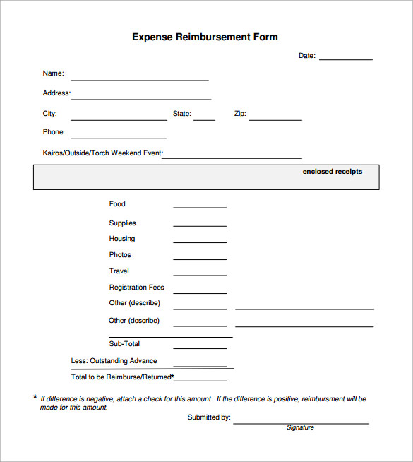 Free travel expense from printable forms templates and for Dd form 714 template
