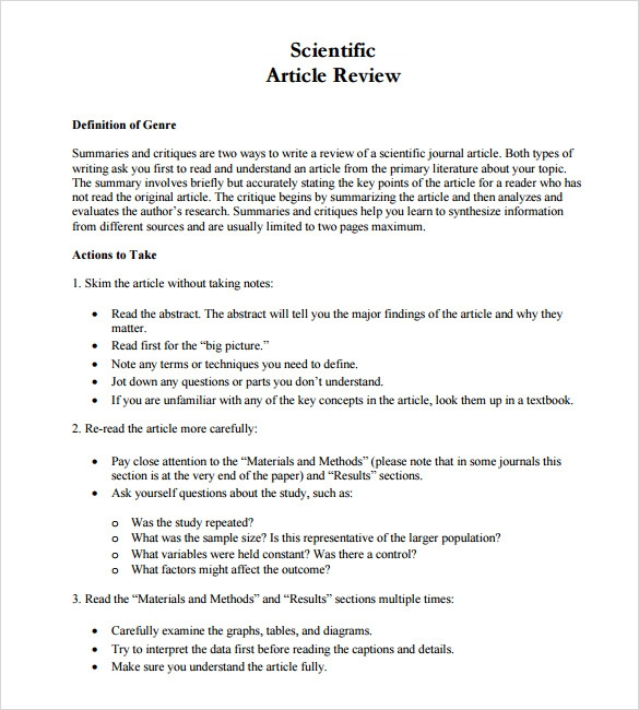 science article summary template - blog de vales y descuentos online