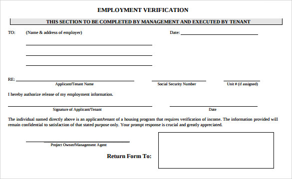 employee verification form