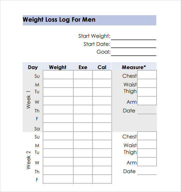 Weight Loss Chart - 9+ Download Free Documents in PDF | Sample ...