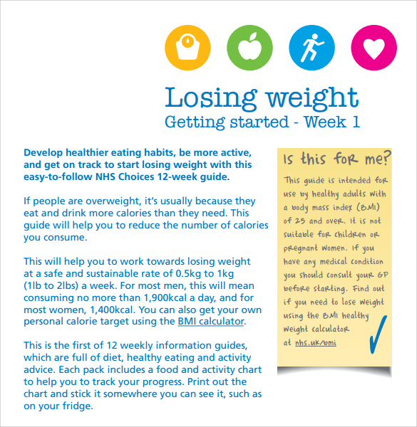 making a weight loss chart