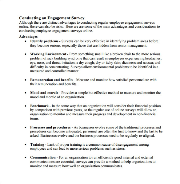 employee engagement survey format