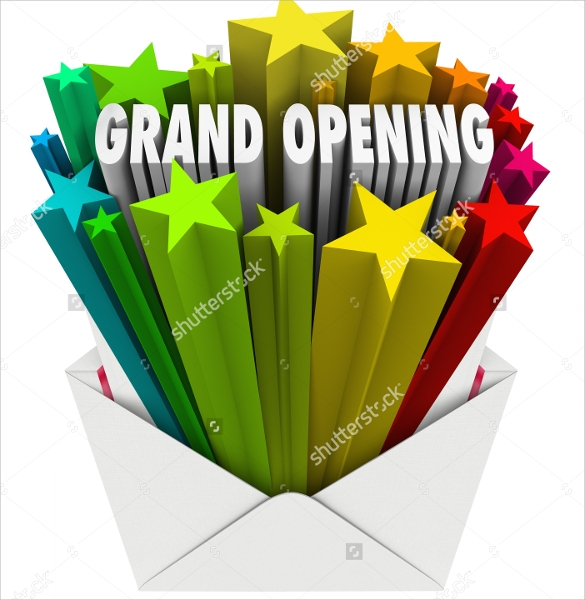 attractive grand opening flyer