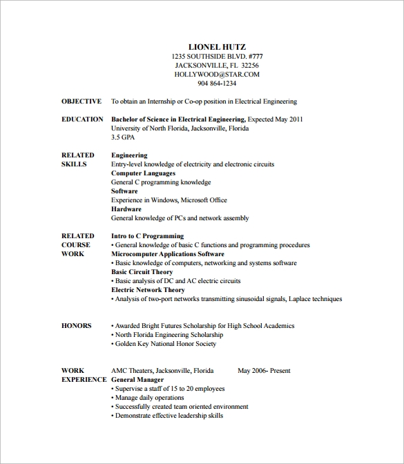 9  entry level resume templates to download