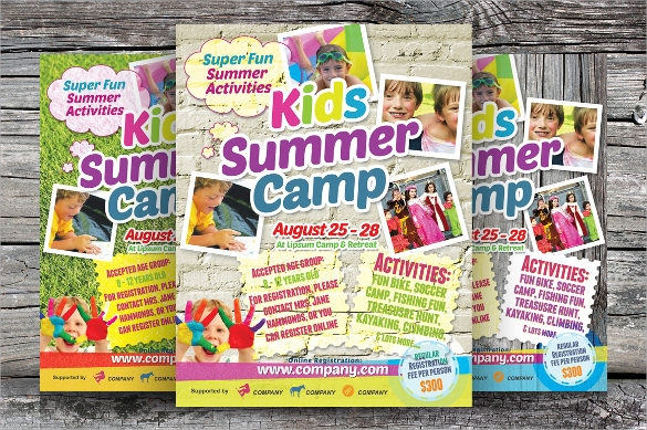 spectacular summer camp flyer
