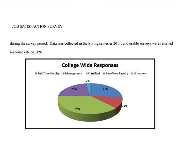 Sample Job Satisfaction Survey - 7+ Documents in PDF , Word