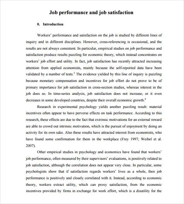 job satisfaction survey free