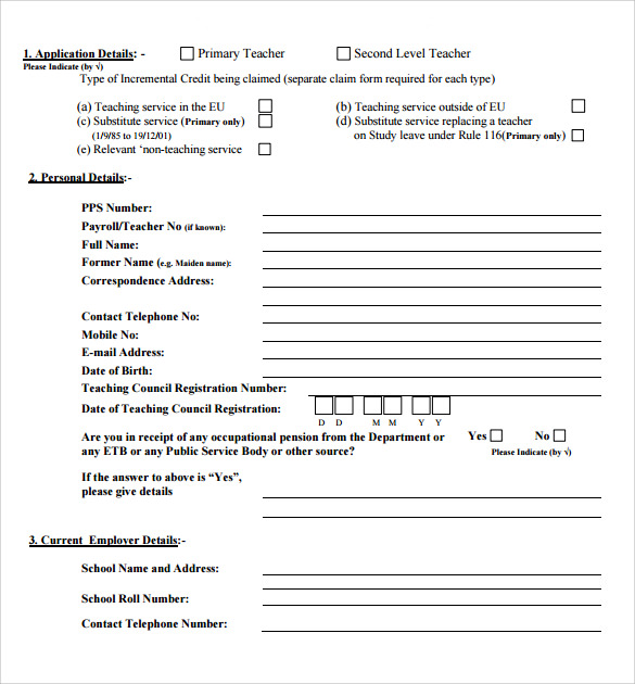 printable credit application form