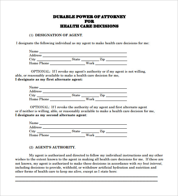 advanced directive template - 10 sample advance directive forms to download sample